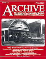 ARCHIVE MAGAZINE ISSUE 72 ISBN 1352-7991-72