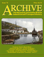 ARCHIVE MAGAZINE ISSUE 74 ISBN: 1352-7991-74