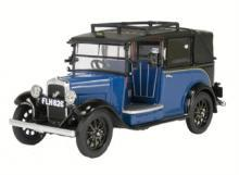 OXFORD DIECAST AT002 O SCALE Austin Low Loader Taxi in Blue.