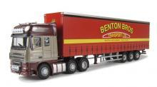 OXFORD DIECAST DAF11CS   OO SCALE   AF 105 (SS) Curtainside Bentons.