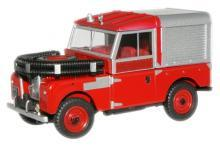 OXFORD DIECAST LAN188012 O SCALE Land Rover 88 Fire Appliance Red
