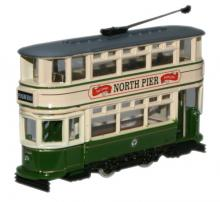 OXFORD DIECAST NTR003   N SCALE Dick Kerr closed tram - Blackpool Tram